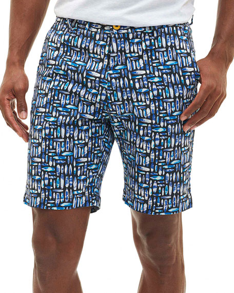 Ocean Park Surfboard Shorts, Multicolor