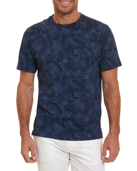 Rosemead Faded-Paisley T-Shirt, Blue