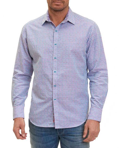 Robert Graham La Monica Dobby Check Linen-Cotton Shirt,