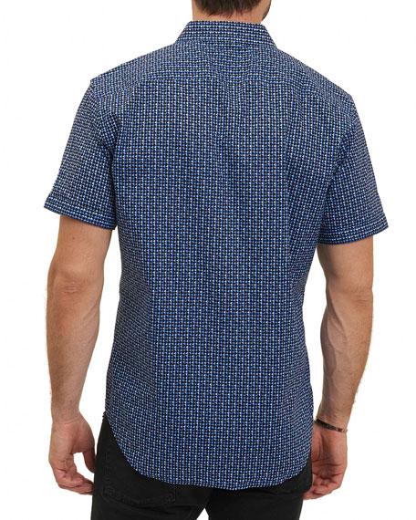 Gardena Geometric-Print Shirt, Blue