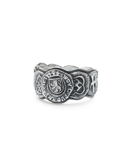 David Yurman Men's 12mm Shipwreck Coin Band Ring