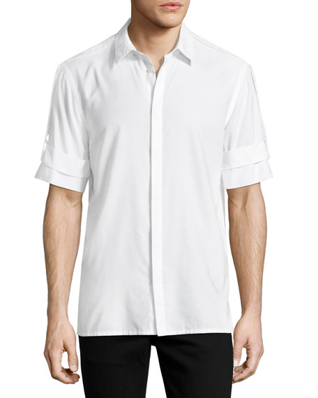 Helmut Lang Armband Short-Sleeve Shirt, White
