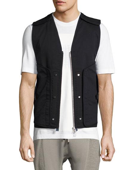 Helmut Lang Zip-Front Utility Vest, Black