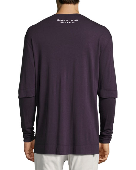 Double-Sleeve Logo-Print T-Shirt, Fig