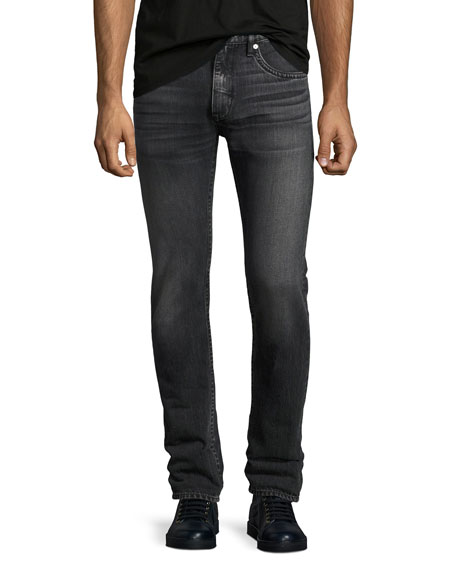 Helmut Lang Mr. 87 Faded Slim-Fit Jeans, Gray