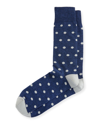 Jaspe Polka-Dot Socks