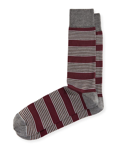 Neiman Marcus Blocked Stripe Socks