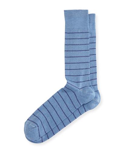 Thin-Stripe Mercerized Socks