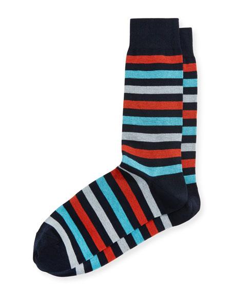 Neiman Marcus Rugby Three-Stripe Socks