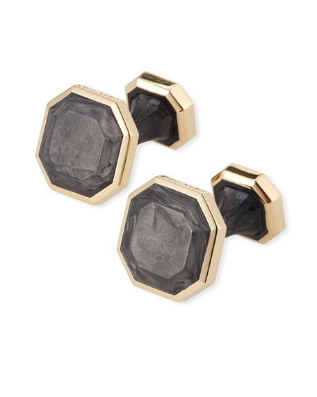 David Yurman Forged Carbon 18k Cuff Links