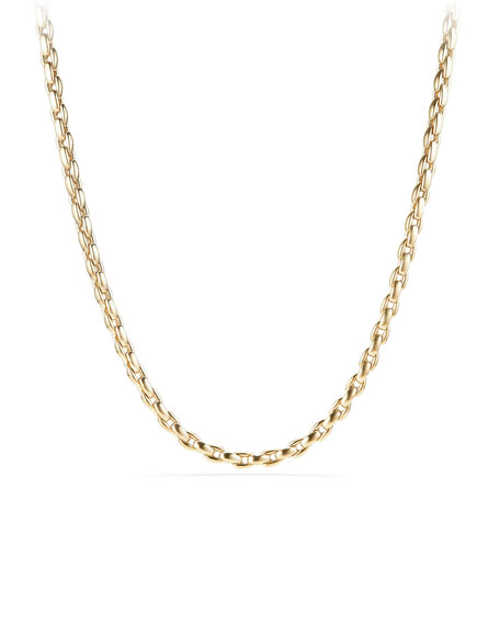 Men's 18k Box Chain Necklace, 26""