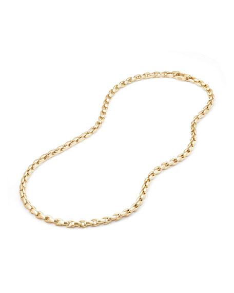 """Men's 18k Box Chain Necklace, 22"""""""