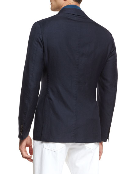 Cashmere-Silk Two-Button Jacket