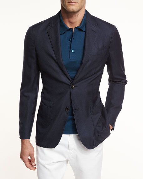 Ermenegildo Zegna Cashmere-Silk Two-Button Jacket and Matching