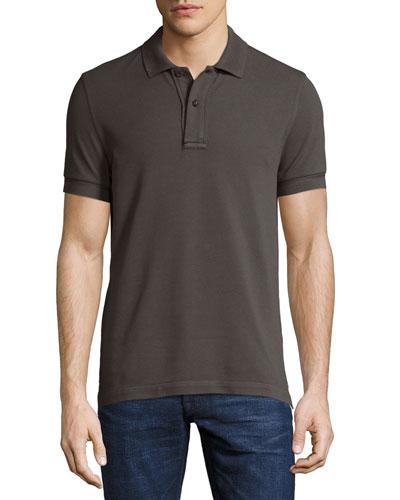 Tennis Pique Jersey Polo Shirt