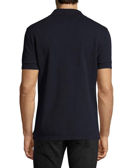 Tennis Pique Polo Shirt, Navy