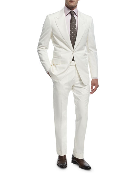 TOM FORD O'Connor Base Cotton Two-Piece Suit