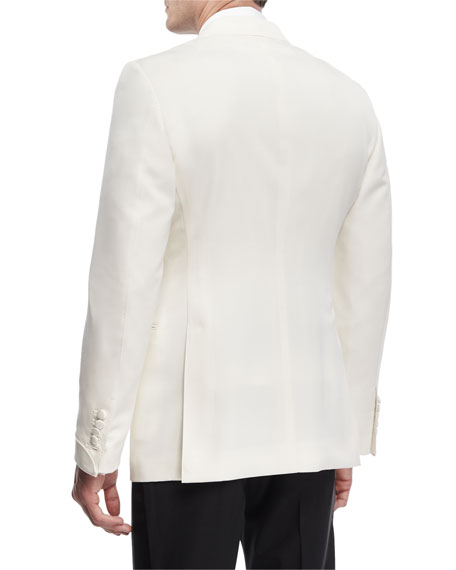 Shelton Base Wool-Mohair Cardigan Dinner Jacket