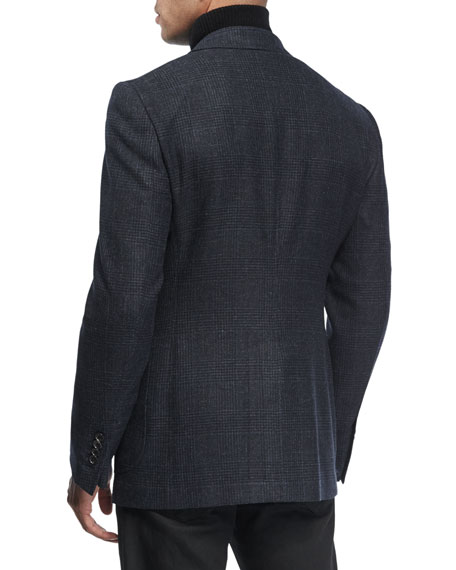 Shelton Prince of Wales Canvas Cardigan Jacket
