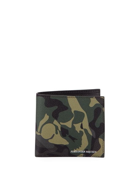 Alexander McQueen Camo Leather Bi-Fold Wallet