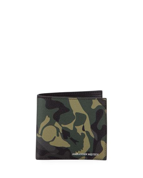 Alexander McQueen Camo Leather Bi-Fold Wallet