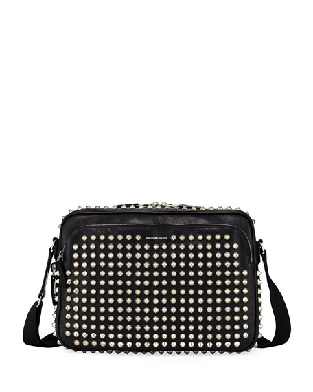 Alexander McQueen Studded Leather Messenger Bag