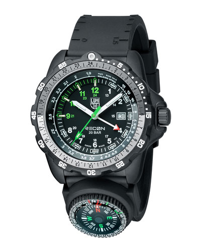 'LAND - RECON NAV SPC' REMOVABLE COMPASS GMT WATCH, 46MM