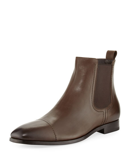 Ermenegildo Zegna Rodrigo Leather Chelsea Boot, Brown