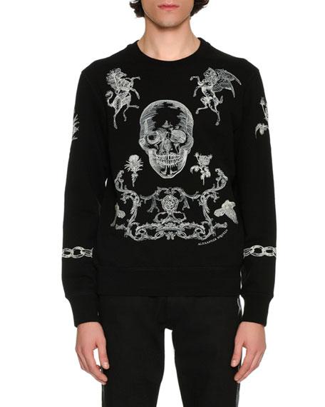 Alexander McQueen Stitch-Embroidered Sweatshirt, Black