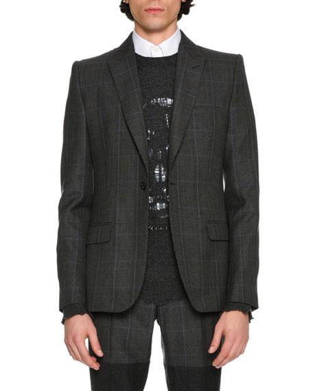 Glen Plaid Wool Sport Coat, Multicolor