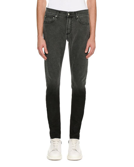Dip-Dyed Skinny Jeans, Gray