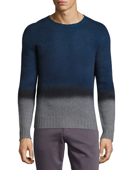 Etro Ombre Cashmere Crewneck Sweater, Navy