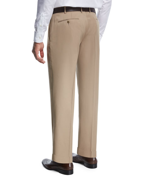 Wool Gabardine Trousers