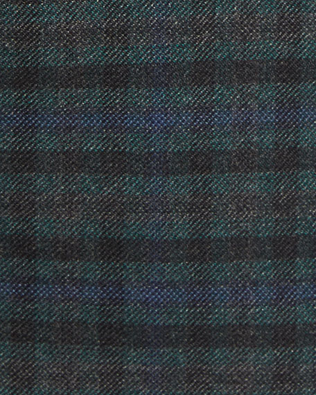 Check Cashmere Sport Coat, Green