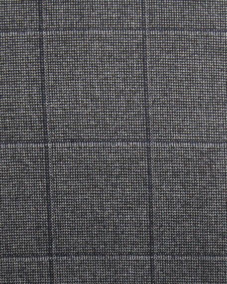 Windowpane Tic Wool Two-Piece Suit, Gray