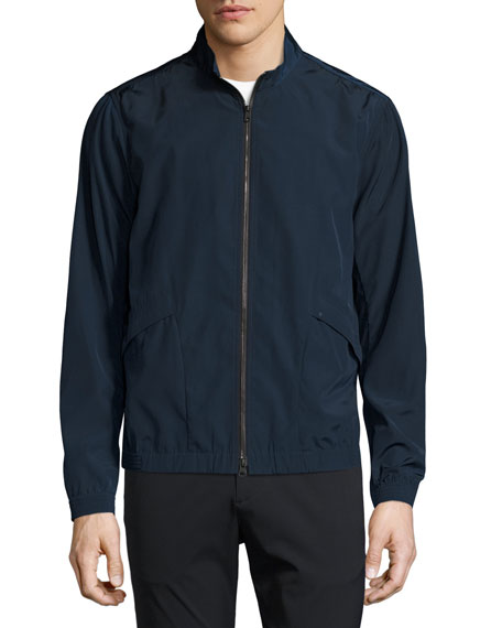 Drafted Zip Blouson Bomber Jacket, Blue