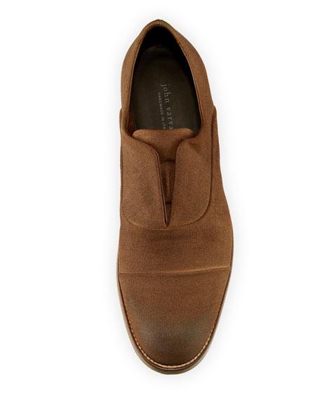 Jacob Laceless Canvas Derby Shoe