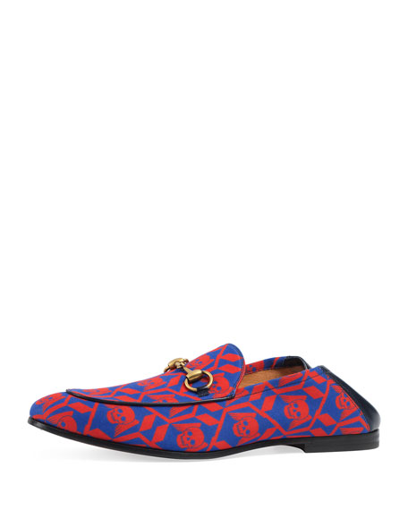 Gucci Brixton Geometric Skulls Print Loafer, Multicolor