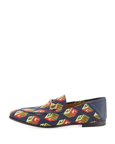 Brixton GG Wallpaper Print Loafer, Multicolor