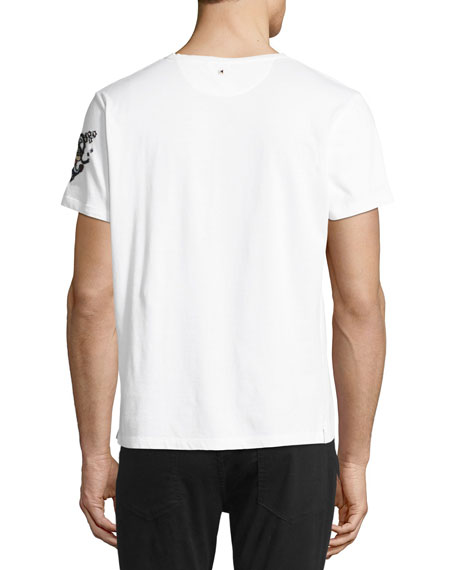 Embroidered Cotton Sailor T-Shirt, White