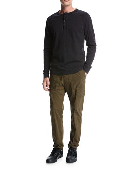 Drawstring Utility Pants, Green