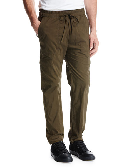 Vince Drawstring Utility Pants, Green