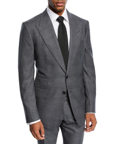 Shelton Tonal Prince of Wales Plaid Wool Suit