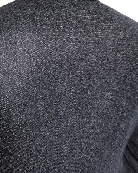Shelton Base Salt & Pepper Wool-Silk Two-Piece Suit