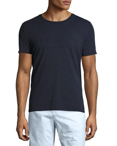 Burberry Martford Logo-Print Jersey T-Shirt, Navy