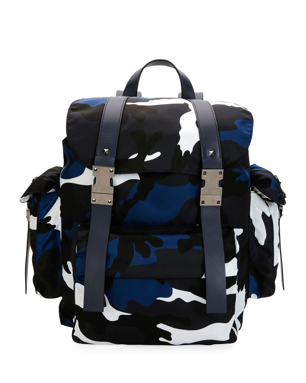 Valentino Garavani Camo-Print Nylon Backpack 116dc9f06406a