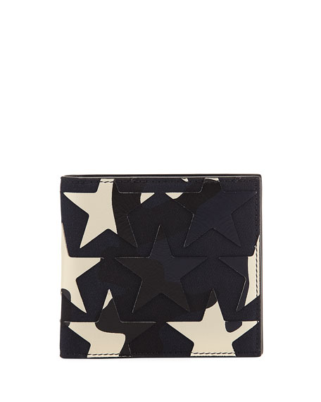 Valentino Garavani Camustars Canvas & Leather Wallet, Marine