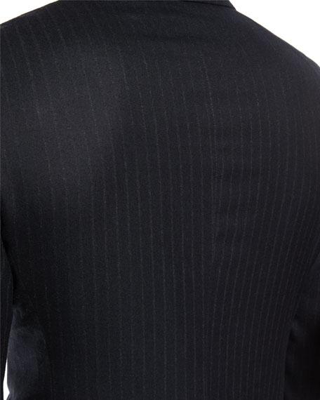 Shelton Base Pinstripe Flannel Wool-Silk Two-Piece Suit