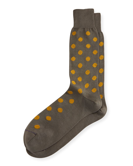 Paul Smith Bright Spot Dotted Socks, Slate