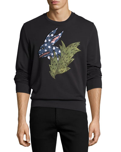 Canton Rabbit-Print Sweatshirt